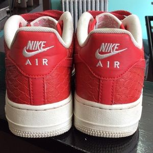 Nike Shoes - Nike Air Force ones red